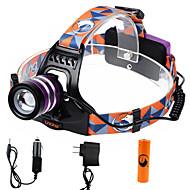 Hodelykter LED 2000 Lumens 3 Modus Cree XM-L T6 18650 Justerbart FokusCamping/Vandring/Grotte Udforskning Dagligdags Brug Sykling Jakt