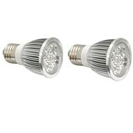 4W E14 GU10 E27 LED-vækstlampe 4 Højeffekts-LED 360-400 lm Rød Blå V 2 stk.