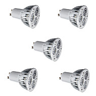 5pcs 6W GU10 LED Spotlight 3*2W High Power LED Warm/Cool White  Aluminum Alloy Led Lamp Spotlight Bulb AC85-265V
