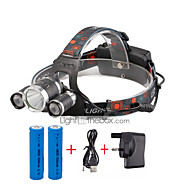 U'King® ZQ-X807#1-UK CREE XML T6  2R5 3 LED 4000LM 4Modes Multifunction Headlamp Bicycle Light for Camping Hiking