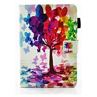 Varten Korttikotelo Tuella Flip Magneetti Etui Kokonaan peittävä Etui Puu Kova Tekonahka varten Apple iPad Air 2 iPad Air