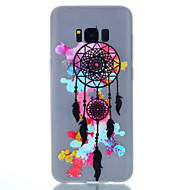 For Lyser i mørket Syrematteret Gennemsigtig Mønster Etui Bagcover Etui Drømmefanger Blødt TPU for SamsungS8 S8 Plus S7 edge S7 S6 edge