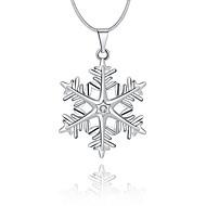 Damskie Naszyjniki z wisiorkami Kryształ Geometric Shape Płatek śniegu Srebro standardowe Kryształ sztuczna DiamentKlasyczny Unikalny