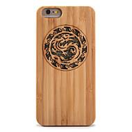 Voor Schokbestendig Reliëfopdruk hoesje Achterkantje hoesje Dier Glitterglans Hard Bamboe voor AppleiPhone 6s Plus iPhone 6 Plus iPhone