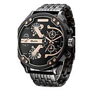 Oulm Herren Sportuhr Militäruhr Kleideruhr Modeuhr Armbanduhr Armband-Uhr Einzigartige kreative Uhr Japanischer QuartzWasserdicht Duale