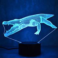 jul krokodil kontakt mörkläggning 3D LED nattlampa 7colorful dekoration atmosfär lampa nyhet belysning jul ljus