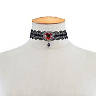 Dame Kort halskæde Krystal Imiteret Diamant Enlig Snor Krystal Blonde Akryl Fløjl Unikt design Hængende Akryl Mode Vintage Euro-Amerikansk