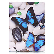 Para Case Tampa Carteira Porta-Cartão Com Suporte Flip Estampada Corpo Inteiro Capinha Borboleta Rígida Couro Ecológico para  iPad (2017) Pro10.5