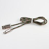 USB 2.0 Type C Draagbaar Kabel Voor Samsung Huawei Sony Nokia HTC Motorola LG Lenovo Xiaomi 100 cm Metaal PVC