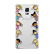 For Samsung Galaxy Note 5 Note 4 Transparent Pattern Case Back Cover Case Cartoon Soft TPU for Samsung Note 3 Note 2