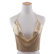 Dame Kropssmykker Krops Kæde / mavekæde Legering Mode Bladformet Guld Sort Sølv Smykker Speciel Lejlighed Fødselsdag Afslappet Julegaver1