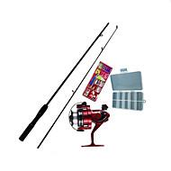 Perhokalastusvapa Teleskooppivapa Iso Rod Kalastusvapa Surffivapa FRP 165 M Merikalastus Perhokalastus Jäällä kalastus Vavat + Kelat Musta