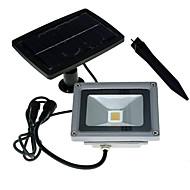 youoklight 1pcs 10w 24v bianco caldo / freddo energia solare bianco 3000k / 6000k 900LM la luce di inondazione impermeabile riflettori