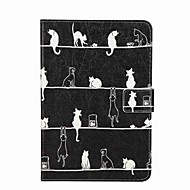 For Card Holder Wallet with Stand Flip Pattern Case Full Body Case Cat Hard PU Leather for Apple iPad Mini 4 iPad Mini 3/2/1