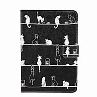 إلى حامل البطاقات محفظة مع حامل قلب نموذج غطاء كامل الجسم غطاء قطة قاسي جلد اصطناعي إلى Apple iPad Mini 4 iPad Mini 3/2/1
