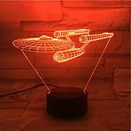 roman 3d visuel førte natlys stjerne trek skib figur cool indretning bordlampe nightlamp Veilleuse enfant touch-lampen for fans