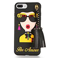Para Diseños Manualidades Funda Cubierta Trasera Funda Chica Sexy Suave TPU para AppleiPhone 7 Plus iPhone 7 iPhone 6s Plus iPhone 6 Plus