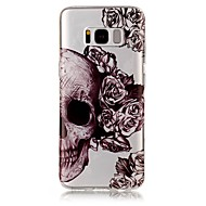 For IMD Transparent Mønster Etui Bagcover Etui Dødningehoved Blødt TPU for Samsung S8 S8 Plus S7 edge S7 S6 edge S6 S5