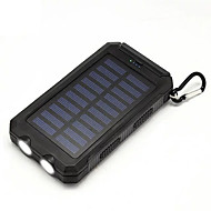 Power Bank with Solar Charger 20000mAh Flashlight Output 1000mAh USB for Outdoors Trips