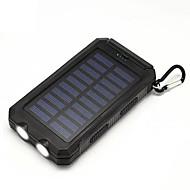قوة البنك مع شاحن الطاقة الشمسية 20000 مللي أمبير مضيا بوصلة أوسب للرحلات في الهواء الطلق