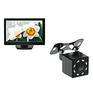 5 auto tft lcd-monitor en auto achteruitrijcamera backup 8LED night vision camera