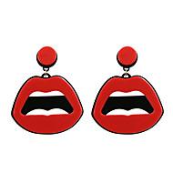 Druppel oorbellen Uniek ontwerp Acryl Modieus verklaring Jewelry Acryl Sieraden Lippen Rood Sieraden VoorBruiloft Feest Halloween