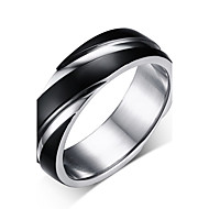 Men's Stainless Steel Contracted Twill Ring Hot Style 18 k Gold Plating Ring 3 Colors  for male jewelry Wholesale R-057