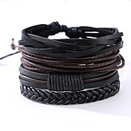 The New Vintage Cowhide Ancient Hand Woven Bracelet Cortical Layers Hand Rope Men's Bracelet