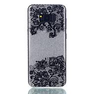Voor IMD Patroon hoesje Achterkantje hoesje Kanten ontwerp Glitterglans Bloem Hard PC voor Samsung S8 S8 Plus S7 edge S7