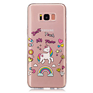 For Transparent Mønster Etui Bagcover Etui enhjørning Blødt TPU for Samsung S8 S8 Plus S5 Mini S4 Mini