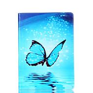 Til Samsung Galaxy Tab en 9,7 a 7,0 e 9,6 tilfælde cover sommerfugl mønster kort stent pu materiale flad beskyttelse shell