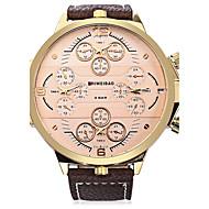 Dam Herr Sportsklocka Modeklocka Armbandsur Armbandsklocka Kinesiska Quartz Automatisk självuppdragandeKalender Vattenavvisande Dubbel