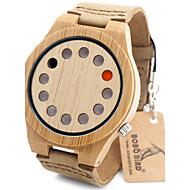 Heren Modieus horloge Polshorloge Unieke creatieve horloge Vrijetijdshorloge Horloge Hout Japans Kwarts Japanse quartz houten Hout Band