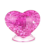 3 d assembly - heart - acrylic - pink
