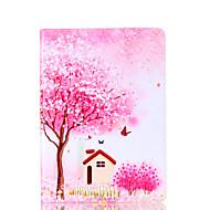Pour samsung galaxy tab a 9.7 a 7.0 e 9.6 couverture de casier fleur carte de motif d'arbre stent pu matériel coquille de protection plate
