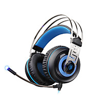 sades A7 usb 7.1 surround ammattilainen stereo pelikuulokkeet sininen led-valaistus kuulokkeita mikrofoni kannettava tietokone