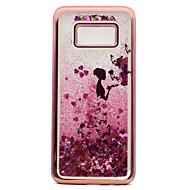Voor Samsung Galaxy S8 Plus S8 Case Cover Plating vloeibaar vloeibaar patroon achterkant hoesje sexy dame Glitter Shine Soft TPU voor S7