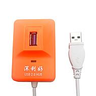 x-leo 4ポート高速USB 2.0ハブ超薄型