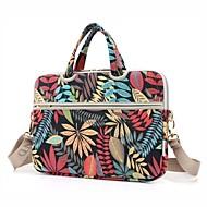 13.3 14.1 15.6 inch Leaf Pattern Laptop Shoulder Bag with Strap Hand Bag for Macbook/Surface/Dell/HP/Samsung/Sony etc