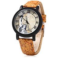 Dames Dress horloge Modieus horloge Horloge Hout Chinees Kwarts Hout Band Vintage Cartoon Creatief Beige