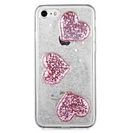 Dla jabłko iphone7 7 plus obudowa pokrywa tylna obudowa blask błyszczący serce miękki tpu 6s plus 6 plus 6s 6