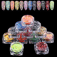 12PCS Nail Art The New Mix Hexagonal Strip Glitter Sequins