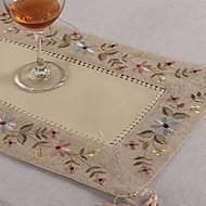 Rectangulaire Embroidered Placemats , Linen materiaaliTaulukko Dceoration Häät Illallinen sisustus Favor Sisustus Hotel ruokapöytä Häät