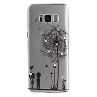 Samsung Galaxy s8 s8 plusz s7 s7 szélén burkolata pitypang mintás hd festett fúró TPU anyag IMD folyamat magas penetráció telefon esetében