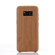 Til Samsung Galaxy S8 S8 Plus S7 S7 Kanten Cover Cover Imitation Wood Korn Mønster PU Materiale Soft Case Telefon Etui