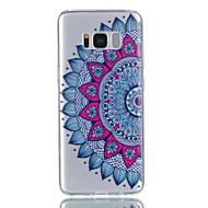 Voor Samsung Galaxy S8 S8 Plus Case Cover Datura Flowers Pattern Reliëfverf vervaagt niet tpu materiaal telefoon hoesje s7 s7edge s6 s5