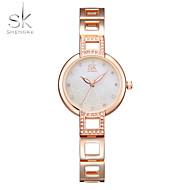 SK Damen Modeuhr Armband-Uhr Einzigartige kreative Uhr Simulierter Diamant Uhr Chinesisch Quartz Wasserdicht SchockresistentMetall