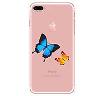 Käyttötarkoitus kotelot kuoret Läpinäkyvä Kuvio Takakuori Etui Perhonen Pehmeä TPU varten AppleiPhone 7 Plus iPhone 7 iPhone 6s Plus