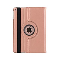 For Case Cover with Stand Auto Sleep / Wake 360° Rotation Full Body Case Solid Color Hard PU Leather for Apple iPad (2017)