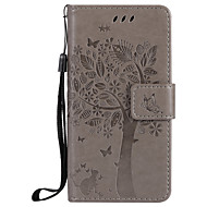 For  Samsung Galaxy A3 2017 A5 2017 Card Holder Wallet with Stand Flip Embossed Case Full Body Case Cat Tree Hard PU Leather for A710 A310 A510 A5 A3